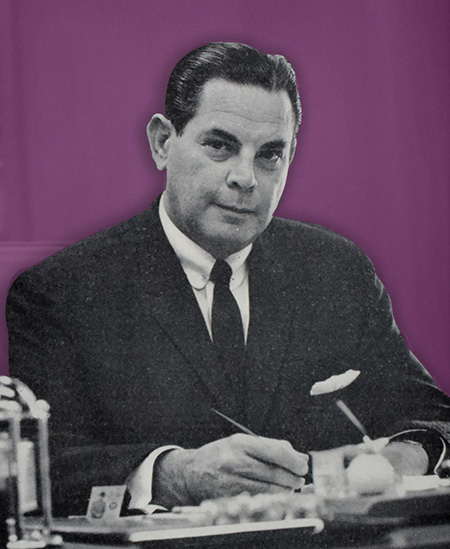 Collector Samuel Wolfson. Image: Stack's. Illustration: CoinWeek