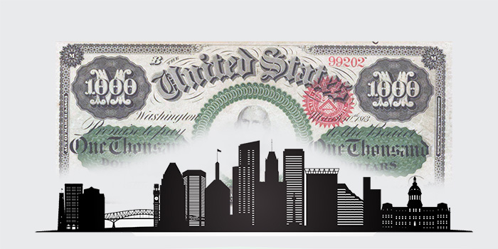 Stack's Bowers Baltimore $1000 Note