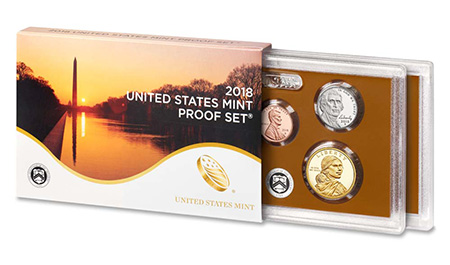 2018 U.S. Mint Proof Set - Image: U.S. Mint Product Photo