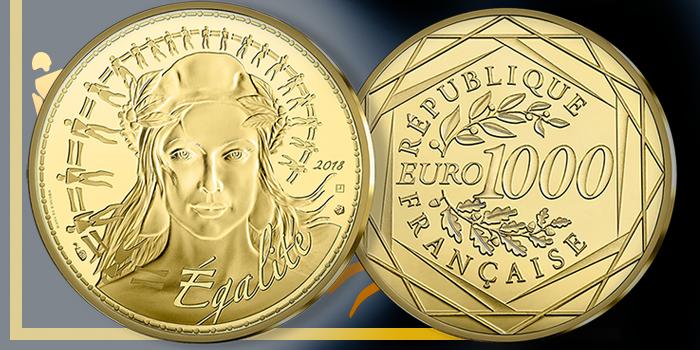 Monnaie de Paris - 1000 Euro Gold Coin - Marianne - World Coin