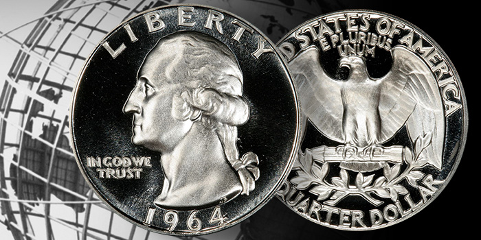 1964 Washington Quarter in Proof