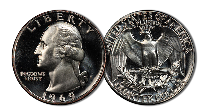 1969-S Washington Quarter. Image: PCGS