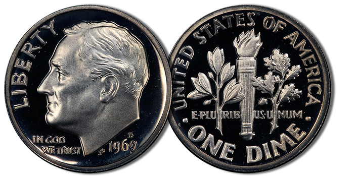 1969-S Roosevelt Dime. Image Credit: PCGS