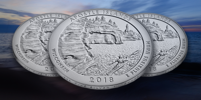 U.S. Mint Apostle Islands America the Beautiful 5 Ounce Silver Coin