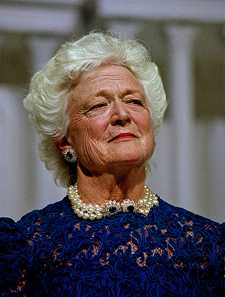 Former First Lady of the United States, Barbara Bush