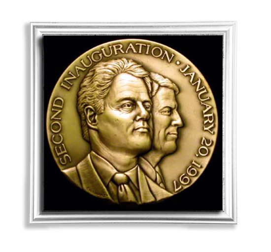 Clinton Second Inauguration Medal - January 20, 1997 - Don Everhart