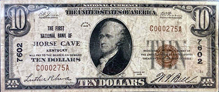 Horse Cave Kentucky National Bank Note