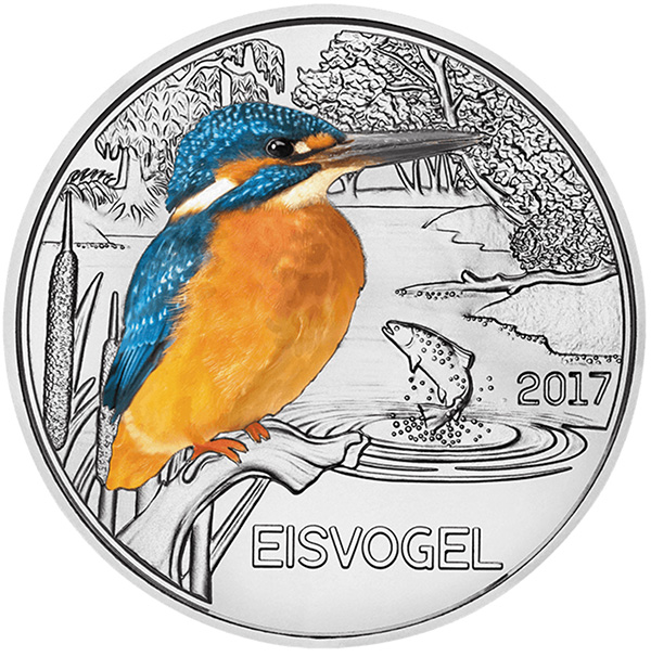 2017 Austria Mint Kingfisher Collector Coin