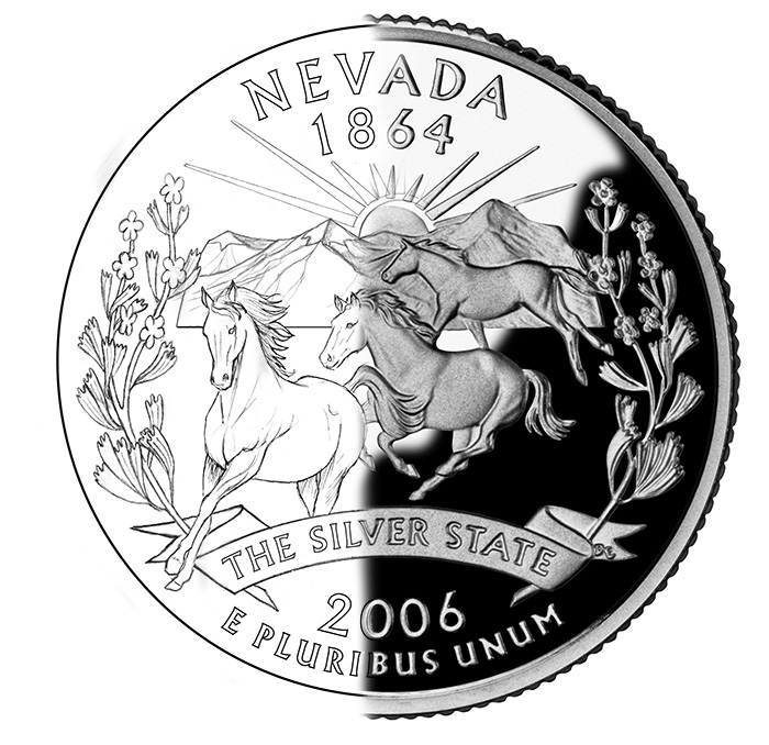 Nevada State Quarter Design / Coin Composite