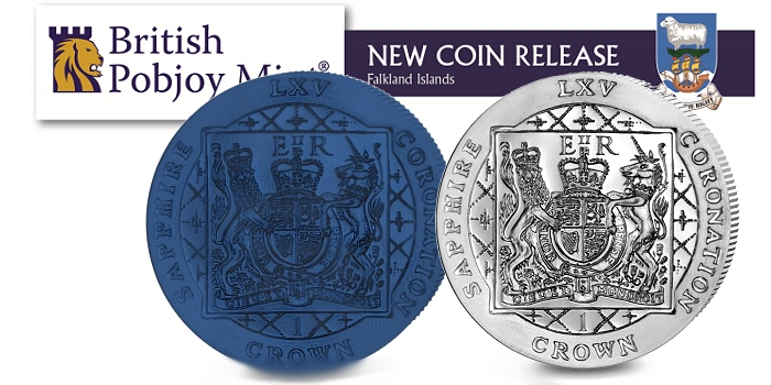 Blue Titanium Coin and Silver Proof