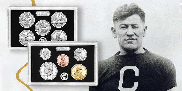 Jim Thorpe - US Mint Silver Proof Set 2018