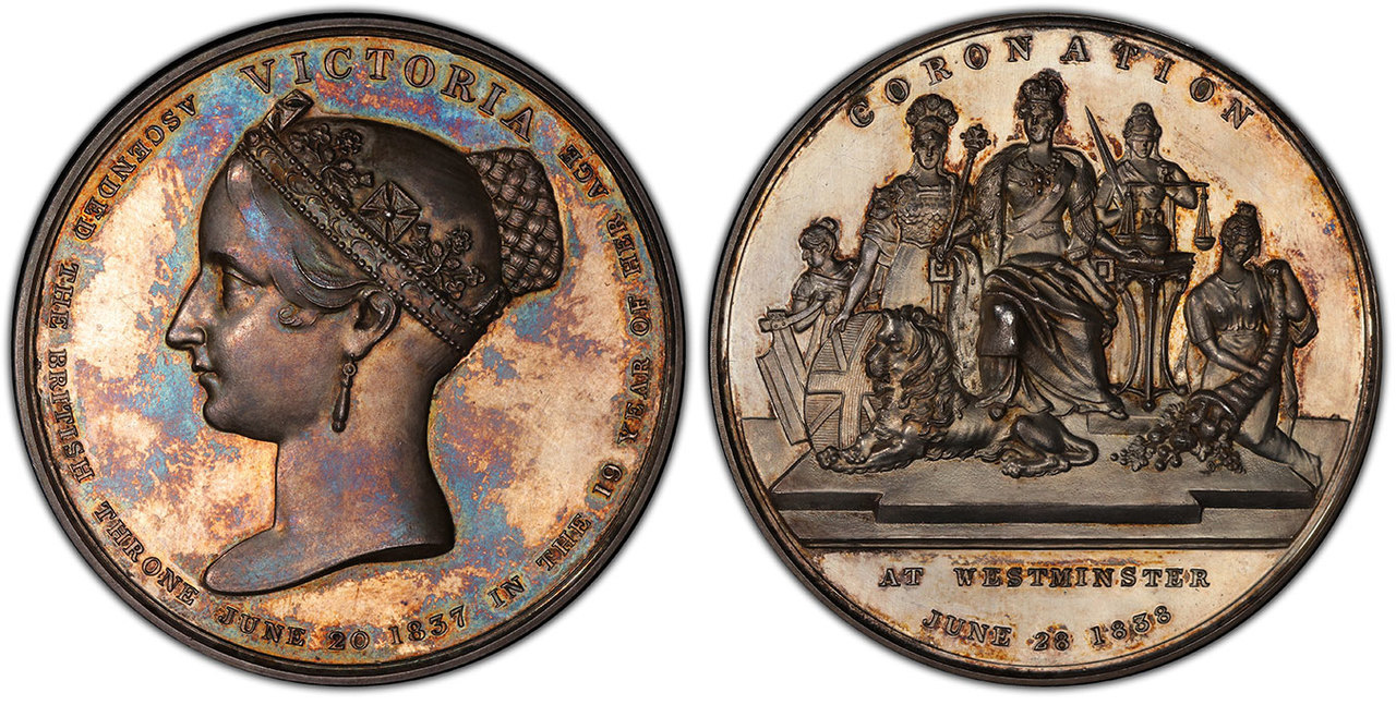 GREAT BRITAIN. Victoria. (Queen, 1837-1901). 1838 AR Coronation Medal. Images courtesy Atlas Numismatics