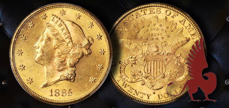 Stack's Bowers 1885-S $20 Gold Coin