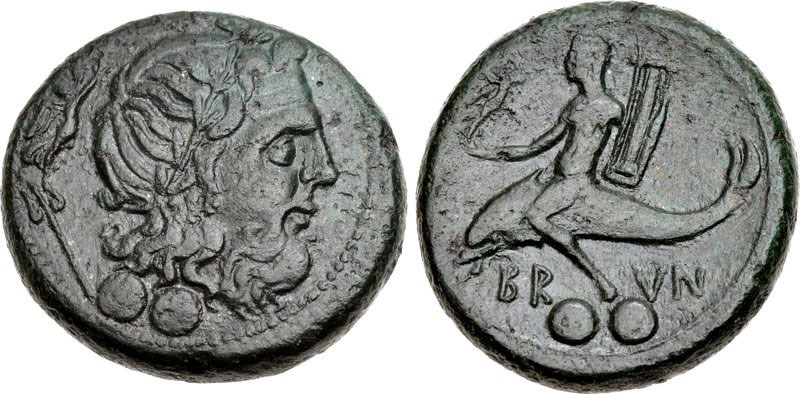 Copper coin of Brundisium, ca. 215 BCE. Images courtesy CNG