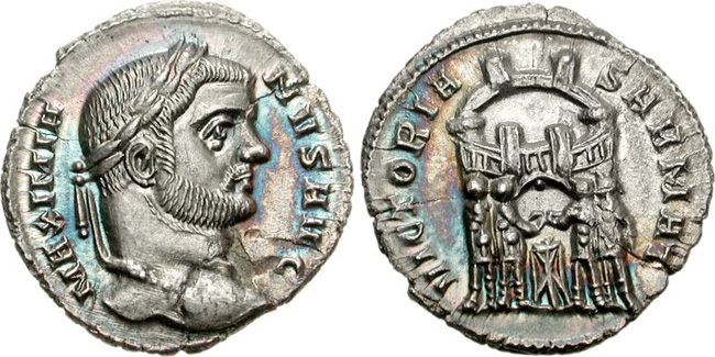 Argenteus of Maximian. Images courtesy CNG