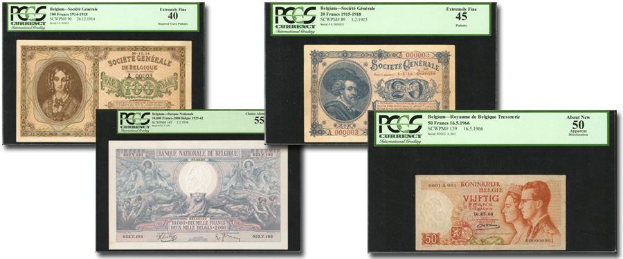 Paper Money of Belgium highlight Stack's Bowers Galleries May 2018 Collectors Choice Online Auction