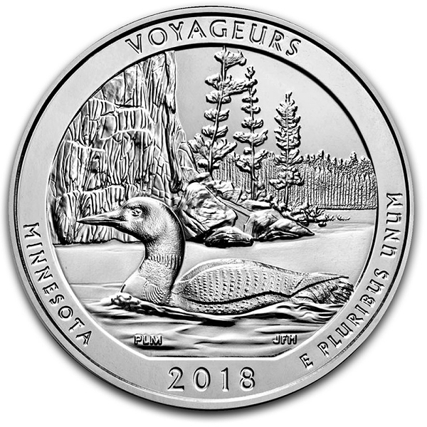 Voyageurs National Park 5oz Silver Coin