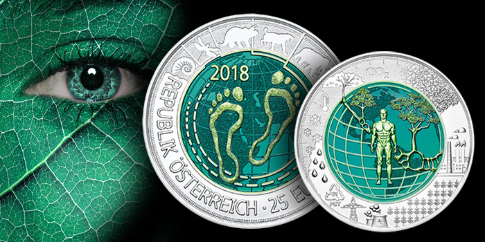 2018 Austrian Mint Silver Niobium Coin - Anthropocene