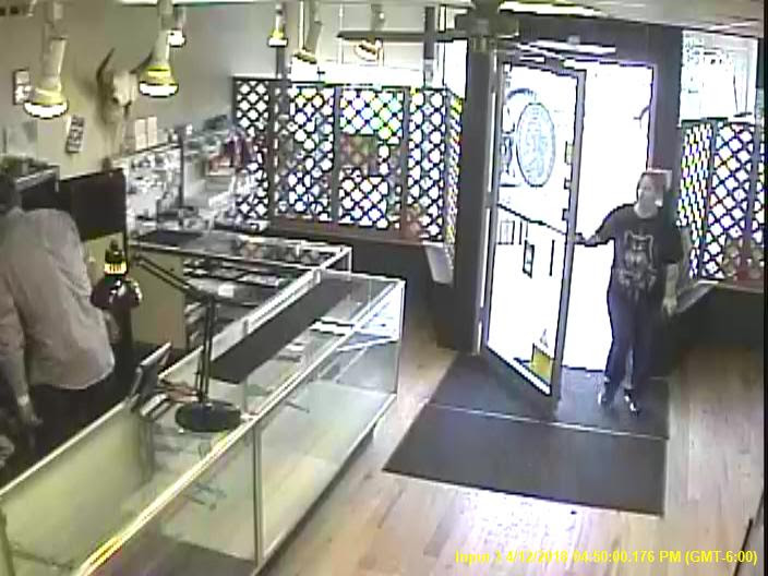 Bad check suspect CCTV footage. Courtesy Doug Davis & Numismatic Crime Information Center (NCIC)