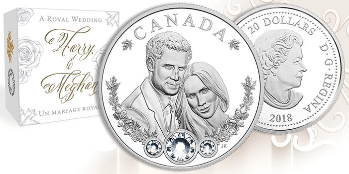 Royal Wedding Prince Harry & Meghan Markle 20 Dollar Coin