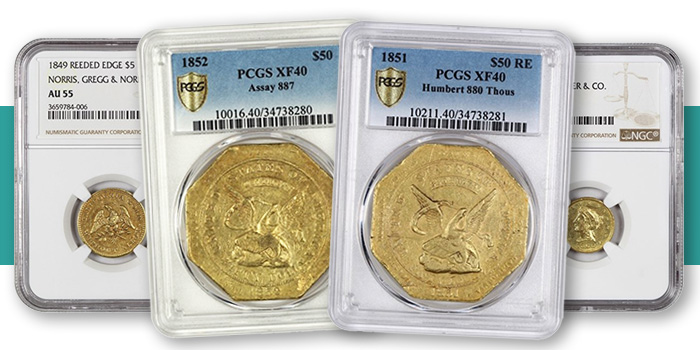 David Lawrence Rare Coins California Territorial Gold Pioneer Gold Coins PCGS NGC