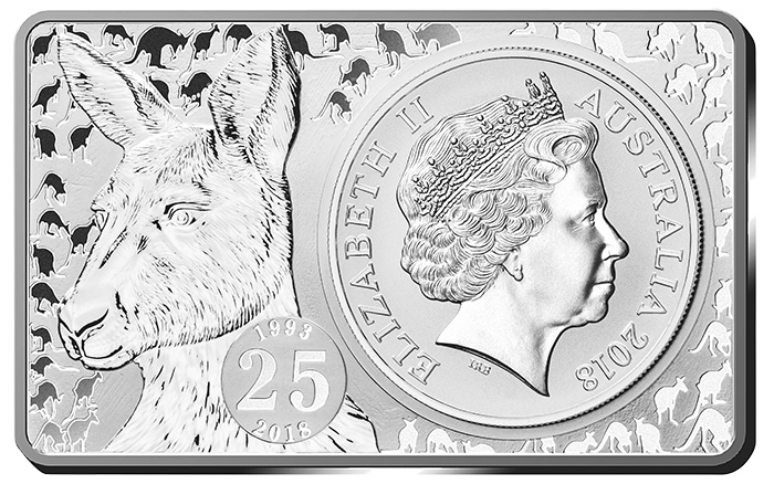 Royal Australian Mint 25th Anniversary Kangaroo Silver Coin Set