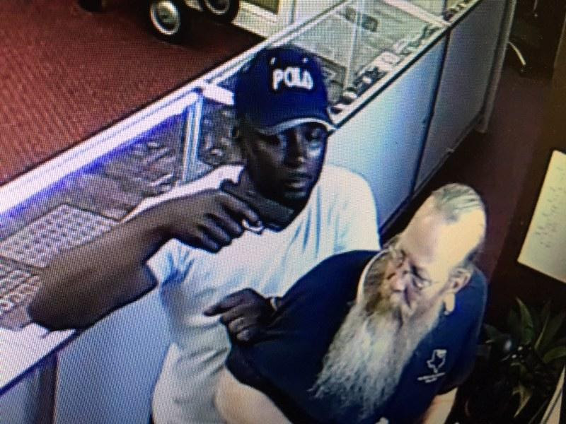 Fort Worth, Texas coin shop armed robbery - May 2018. Photos courtesy NCIC