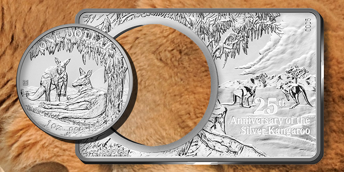 Royal Australian Mint 25th Anniversary of the Silver Kangaroo Silver Coin