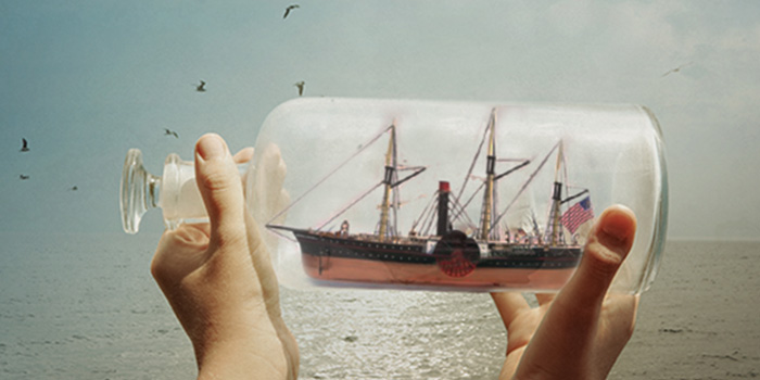SS Central America - Ship in a Bottle