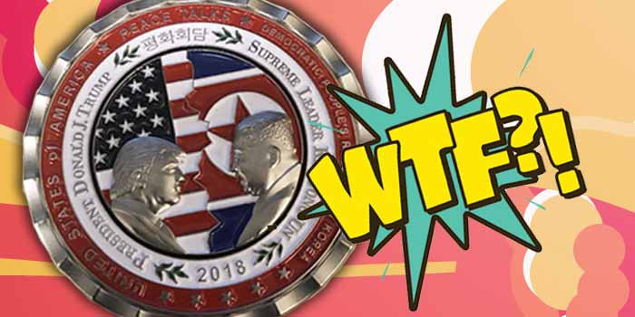 Media Makes Big Deal out of North Korea Summit Challenge Coin