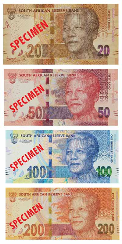 2018 South African Rand Notes