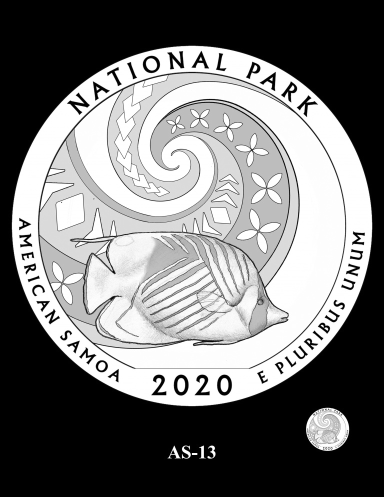 United States 2020 America the Beautiful - National Park of American Samoa quarter dollar reverse. Image courtesy U.S. Mint