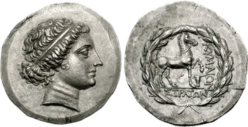 Cyme Silver Tetradrachm (c.mid-2nd Century BCE). Images courtesy CNG, NGC