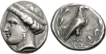 Olympia silver stater. Ancient coins courtesy NGC