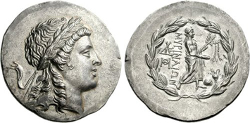Myrina Silver Tetradrachm (c.mid-2nd Century BCE). Images courtesy CNG, NGC