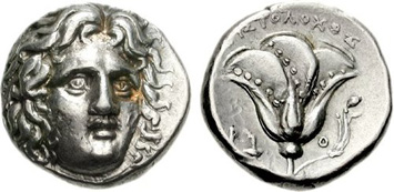 Rhodes Silver Didrachm (c.394-189 BCE). Images courtesy CNG, NGC