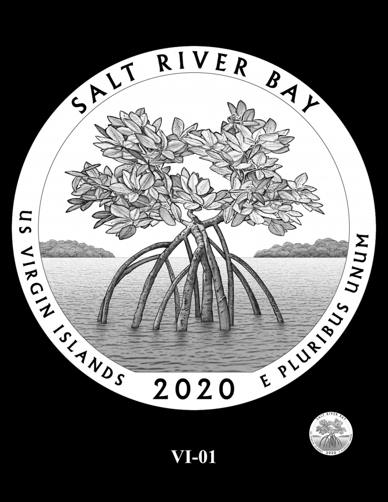 United States 2020 America the Beautiful - Salt River Bay National Historical Park and Ecological Preserve quarter dollar CCAC design recommendation, courtesy U.S. Mint