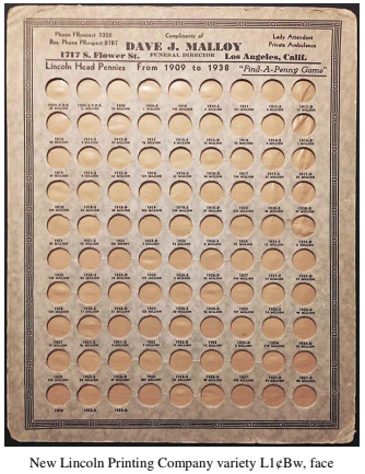 Malloy custom coin board. Image courtesy David W. Lange, Coin Board News