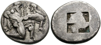 Thrace silver stater. Images courtesy NGC Ancient Coins