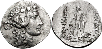 Thrace silver tetradrachm. Images courtesy NGC Ancient coins