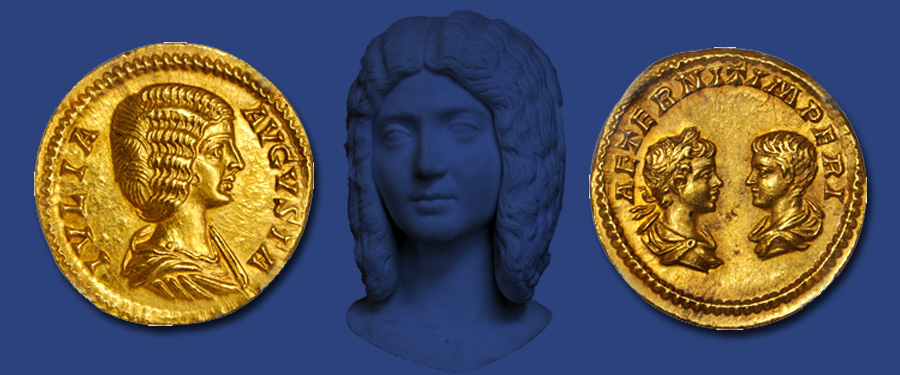 Ancient Roman gold aureus of Julia Domna. Images courtesy Stack's Bowers Auctions