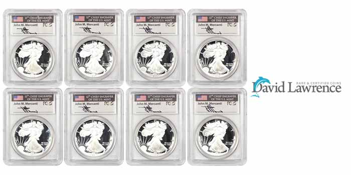 David Lawrence Rare Coins Auction 1019 - American Silver Eagle Proof Coins