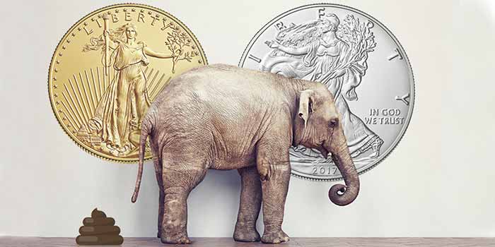 American Silver Eagle American Gold Eagle Counterfeit Coins - Elephant in Room