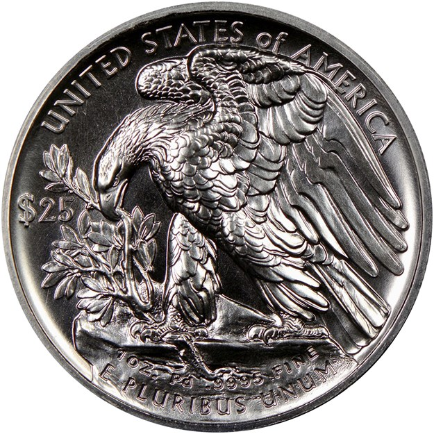 United States 2017 American Eagle Palladium coin in Prooflike. Image courtesy NGC