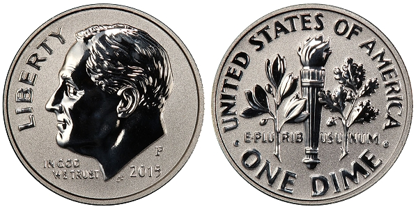 2015 Reverse Proof Dime