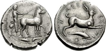 Sicily, Messana. Silver Tetradrachm, c.480-400 BCE. Images courtesy NGC