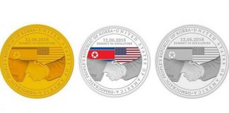 Singapore Mint Donald Trump Kim Jong-Un commemorative coins. Images courtesy Singapore Mint