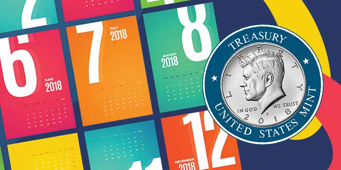 United States Mint - 2018 Summer Schedule - Numismatic Coins