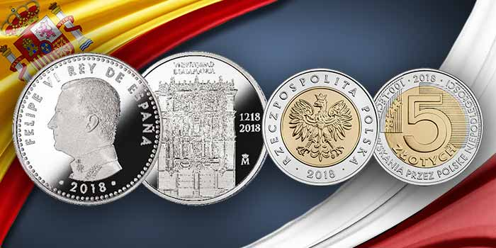 2018 World Coin Commemoratives: Spain and Poland