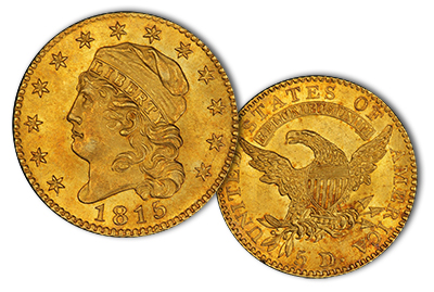 1815 $5 Capped Bust Gold Coin MS65